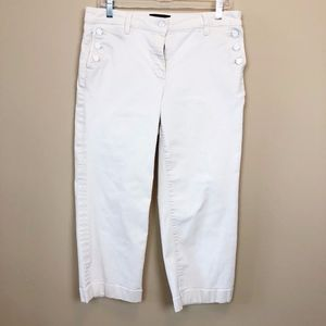 Talbots Cropped White Jeans - Size 10